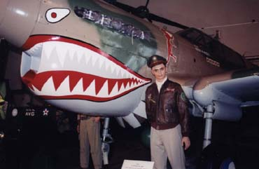 P40 Fighter Flying Tiger Exhibit
